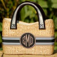 Queen Bea Monogrammed Small Beverly Basket