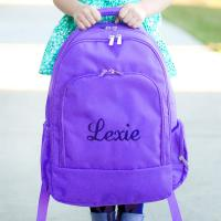 Personalized Purple Backpack