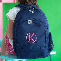 Personalized Navy Backpack