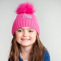 Personalized Hot Pink Childs Bella Hat