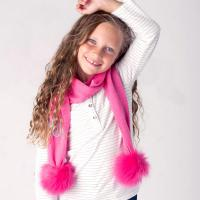 Personalized Hot Pink Childs Bella Scarf