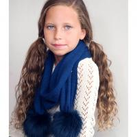 Personalized Navy Blue Childs Bella Scarf