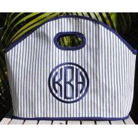 Queen Bea Navy Pillow Tick Stripe GG Medium