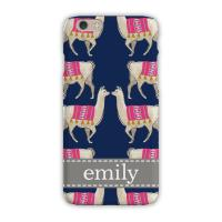 Personalized Clairebella Llama Navy iPhone Case