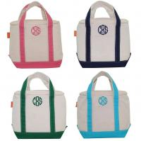 Monogrammed Canvas Small Lunch Tote Cooler