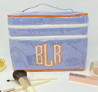 Monogrammed Double Zippered Train Case