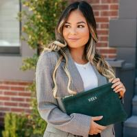 Boulevard Sofie Large Suede Clutch