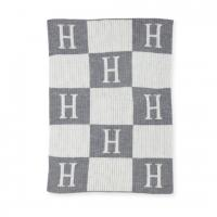 """The Hermes"" Initial And Block Monogrammed Stroller Blanket"