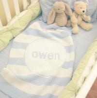 Monogrammed Knit Crib Blanket 36' by 53'