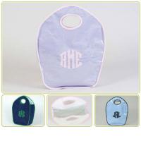Monogrammed Talley Ho Designs Keyhole Diaper Tote
