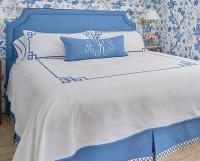 Monogrammed Bed Coverlet by Jane Wilner Designs