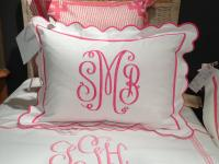 Monogrammed Bed Shams( set of 2) from Jane Wilner Designs