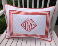 Monogrammed Boudoir Pillow from Jane Wilner Designs