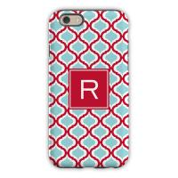 Personalized iPhone Case Kate Red & Teal