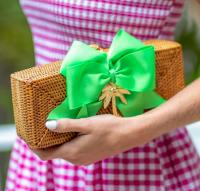 Preppy Colette Clutch Basket Bow and Motif