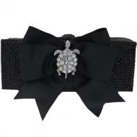 Bosom Buddy Bags Long Rectangle Clutch Paris Black Bow
