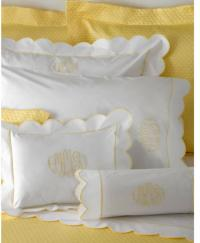 "Butterfield by Matouk  King Sheet with 4"" Monogram"