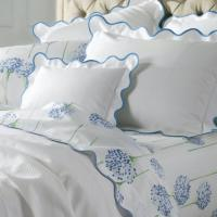 Matouk Lanai Monogrammed Scalloped Bedding Collection