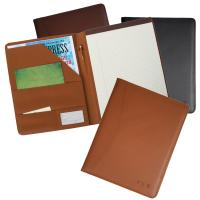 Personalized Embossed Leather Padfolio Folder