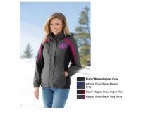 Monogrammed Ladies Warm Color Block Parka Jacket