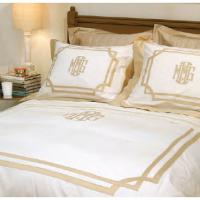 Matouk Monogrammed Salon Bedding Collection