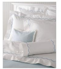 "Matouk Scallop Boudoir Sham with 3"" Monogram"
