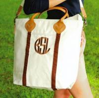 Monogrammed Flight Bag Brown, Pink, or Navy