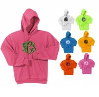 Monogrammed Preppy Pullover Hooded Sweatshirts More Colors