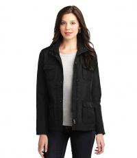Monogrammed Ladies Black Barn Jacket