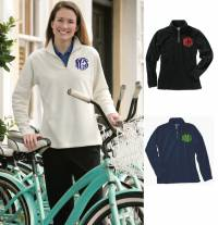 Monogrammed Ladies Micro Fleece Pullover