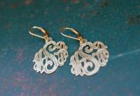 Monogrammed Dangle Earrings With Engraving