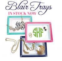Monogrammed Jewelry Bauble Tray large