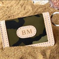 Jon Hart Design Personalized Canvas ID Wallet
