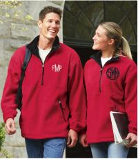 Monogrammed Charles River Adirondack Fleece Pullover Men and Woman