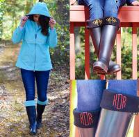 Monogrammed Charles River Fleece Boot Socks