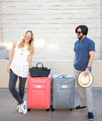 Jon Hart Designs Personalized 360 Super Wheels Rolling Luggage