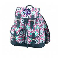 Monogrammed Mia Tile Campus Backpack