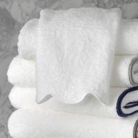 Matouk Cairo Hand Towel Scallop Edge with Monogram