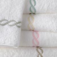 Matouk Classic Chain Bath Towel with Monogram