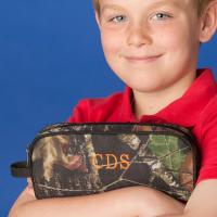 Personalized Woods Camouflage Pencil and Travel Pouch