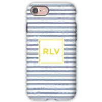 Personalized iPhone Case Rope Stripe Navy