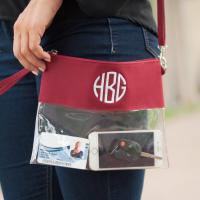 Personalized Garnet Clear Purse