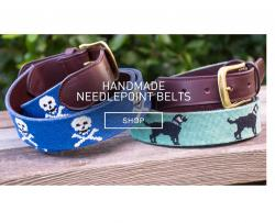 Harding Lane Needlepoint Belt for Men Gallery_907 NULL