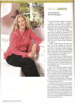 Greenville Magazine Business Person Of The Year 2007 Honoree Local Business Article