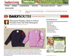 Monogram Monday with Southern Living Southern Living Daily South NULL