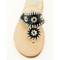 Navy Croc with Silver Palm Beach Sandals Navy Croc with Silver Apparel & Accessories > Shoes > Sandals > Thongs & Flip-Flops
