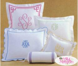 Monogrammed Bedding and Linens Monogrammed Bedding NULL