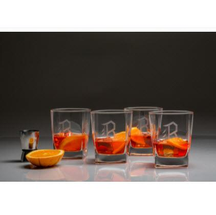 Monogrammed Double Old Fashion Glasses  Home & Garden > Kitchen & Dining > Barware