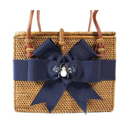 Small Rectangle Bag Navy Bow and Enamel Bee Small Rectangle Bag Navy Bow and Enamel Bee Apparel & Accessories > Handbags > Shoulder Bags