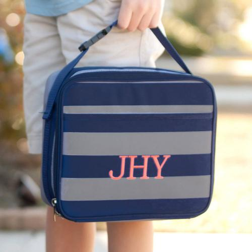 Personalized Greyson Stripe Lunch Box  Home & Garden > Kitchen & Dining > Food & Beverage Carriers > Lunch Boxes & Totes